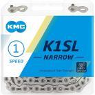"KMC K1SL NARROW 1/2x3/32"" CHAIN SILVER/SILVER"