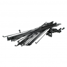 BOX ONE EXPERT DOUBLE BUTTED SPOKES & NIPPLES (30/Bag) BLACK