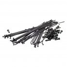 BOX ONE PRO DOUBLE BUTTED SPOKES & NIPPLES (40/Bag) BLACK
